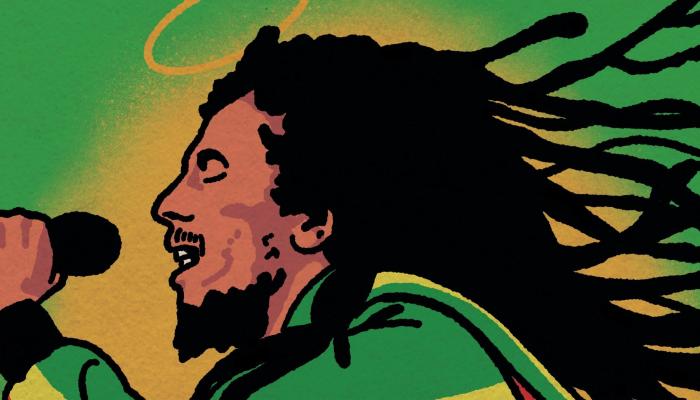 Bob Marley tribute door Rootsriders